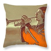 Musician Youth Throw Pillow