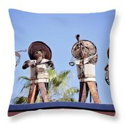Musicians At The Hotel California Todos Santos Mx Throw Pillow