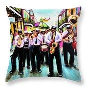 Musique De' Rue Throw Pillow