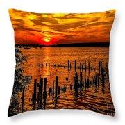 Muskegon Sunset Throw Pillow