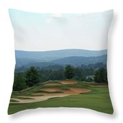 Musket Ridge Golf - In The Foothills Of The Catoctin Mountains - Par 5 - 10th Throw Pillow