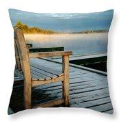 Muskoka Lake At Sunrise Throw Pillow