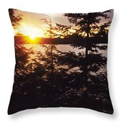 Muskoka Lake Of Bays Sunrise Throw Pillow
