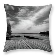 Muskoka Wood Throw Pillow