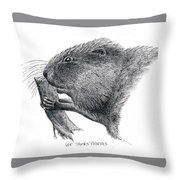 Muskrat Throw Pillow
