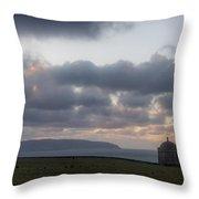 Musseden Temple Sunset Throw Pillow