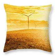 Musselroe Wind Farm Throw Pillow