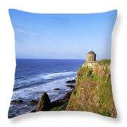Mussenden Temple, Portstewart, Co Throw Pillow