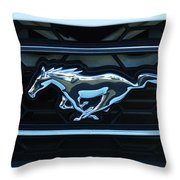 Mustang Emblem Throw Pillow