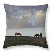 Mustang Group 17 Throw Pillow by Roger Snyder