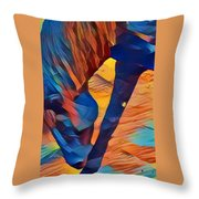 Mustang I C Throw Pillow