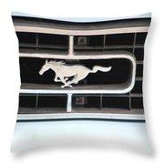 Mustang Logo Throw Pillow