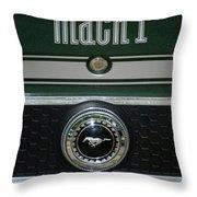 Mustang Mach 1 Emblem Throw Pillow