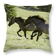 Mustang Mares Throw Pillow