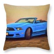 Mustang Ocean Shores Beach Throw Pillow
