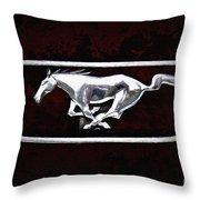 Mustang Pony Logo Throw Pillow