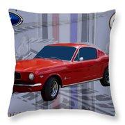 Mustang Poster Throw Pillow