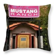 Mustang Ranch Entrance Throw Pillow