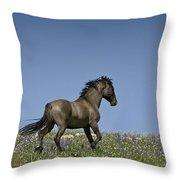Mustang Running 1 Throw Pillow