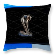 Mustang Shelby Logo Throw Pillow