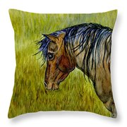 Mustang Stallion Throw Pillow