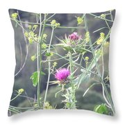 Mustard And Thistle Throw Pillow