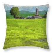 Mustard Fields Indiana Throw Pillow