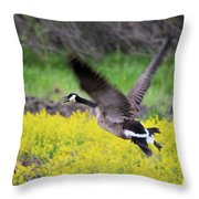 Mustard Flight Throw Pillow