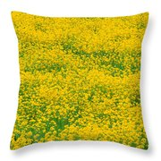 Mustard Flowers Throw Pillow