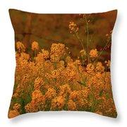 Mustard Garden Throw Pillow