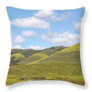 Mustard On Nipomo Hills Throw Pillow