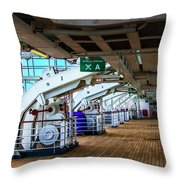 Muster Station A Throw Pillow