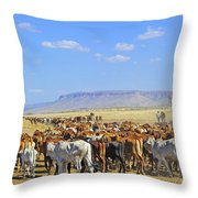 Mustering Passed The Cockburn Ranges Throw Pillow
