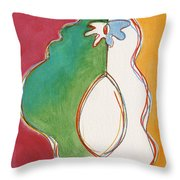 Mutant Avocado 3 Throw Pillow