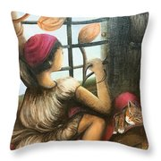 Mute Notes Throw Pillow