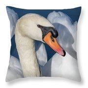 Mute Swan Portrait Throw Pillow