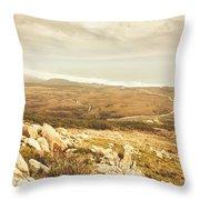 Muted Mountain Views Throw Pillow