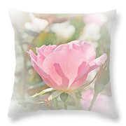 Muted Rose  Throw Pillow