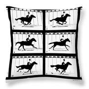Muybridge: Horse Throw Pillow
