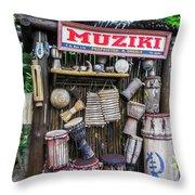 Muziki Throw Pillow