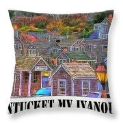 M V Iyanough Throw Pillow