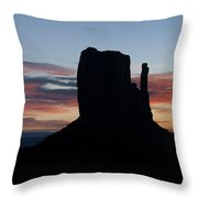 Mv Mitten Sunrise 7636 Throw Pillow