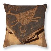 Mv Petroglyph 7364 Throw Pillow