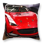 Mx5 Race Car Throw Pillow