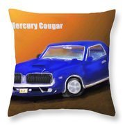 My 1967 Cougar  Throw Pillow
