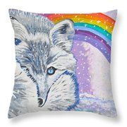 My Artic Fox Throw Pillow