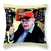 My Astros Cap Throw Pillow