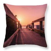 My Atlantic Dream -the Boardwalk  Throw Pillow
