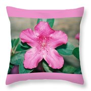 My Azalea Throw Pillow