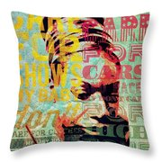 My Baby Just  Throw Pillow